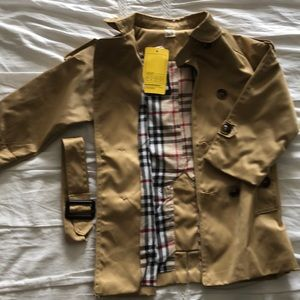 Other - Child size Burberry style trench coat